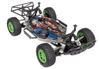 Traxxas Slash 4X4 Green/Blue 4WD Electric Short Course Truck (+ TQ)